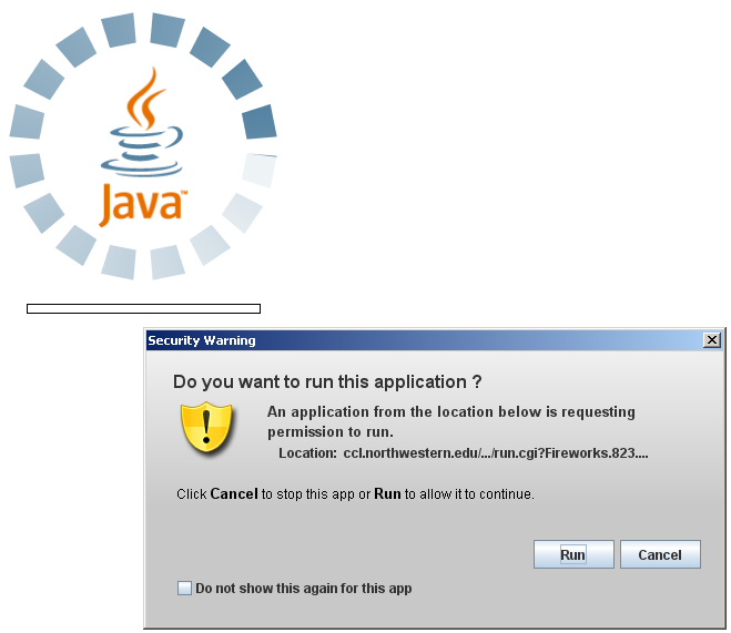Java Applet Warning Message