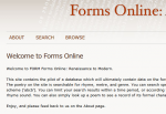 The Poetic Forms Online project worked to add metrical analysis to poetic texts.