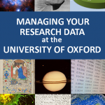Front cover of the managing your research data at the University of Oxford leaflet