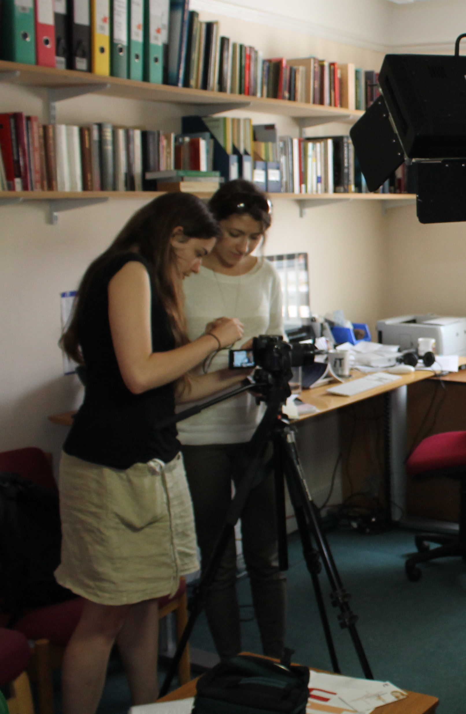 IT Services internship: Suzy and Adelina setting up for an interview