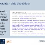 Metadata slide