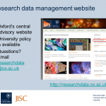 Research data management: an overview
