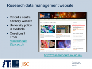 Research Data Management: An Overview - sample slide