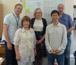The WISE Team. Project leader - Dr Jill Fresen; Project Manager - Dr Liz Masterman; Learning Technologists: Fawei Geng, Steve Burholt, Dr Xavier Laurent