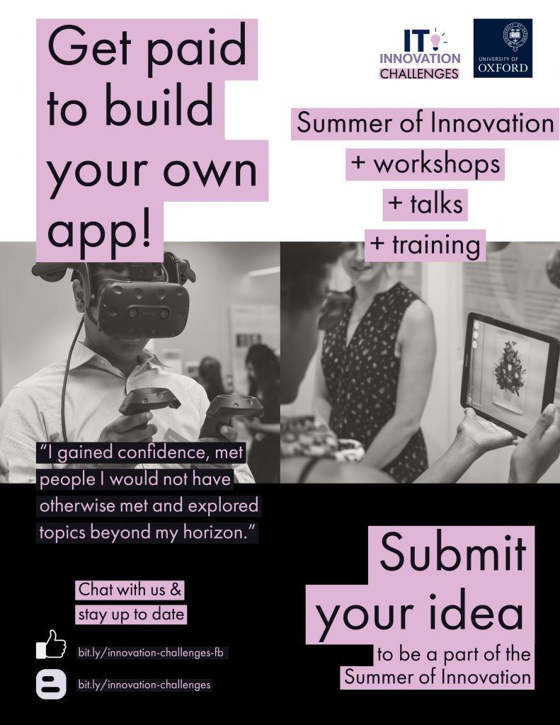 IT Innovation Flyer for the Summer of Innovation