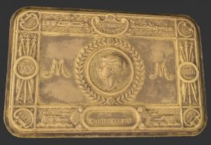 Screenshot of a 3D model of the Princess Mary Gift Tin 1914