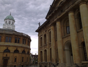And gratuitous picture of the Clarendon Building (the project meeting location) and the Sheldonian Theatre near the Bodleian Library, Oxford