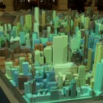 Model of Chicago showing uses of energy