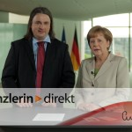 German Chancellor Angela Merkel with historian Frank Drauschke