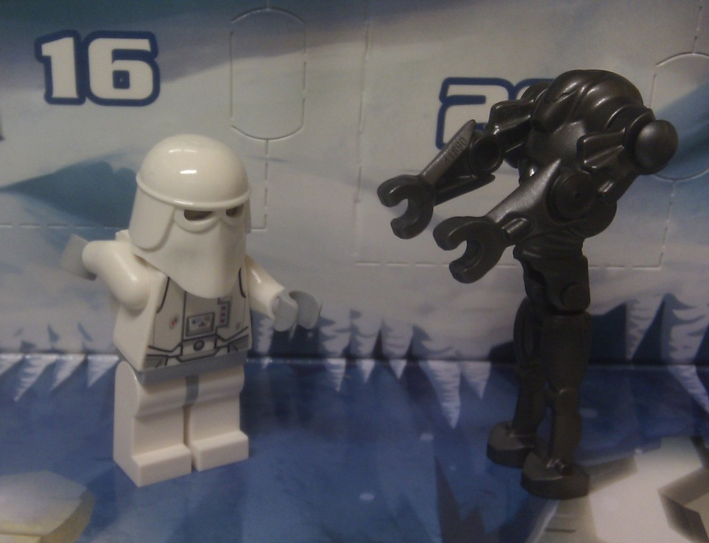 Snow trooper and droid
