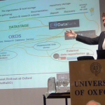 James Wilson presenting the pilot Oxford research data management infrastructure