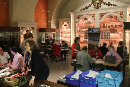 Visitors and staff at WWI Roadshow, Museum of History of Science, Oxford
